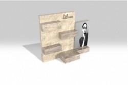 PR20 Présentoir effet marbre et bois marron clair