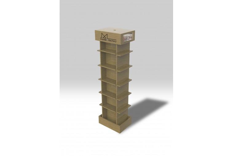PR27 Présentoir colonne effet bois