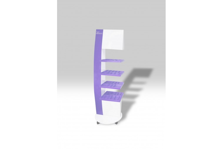 PR33 Présentoir géométrique violet et blanc