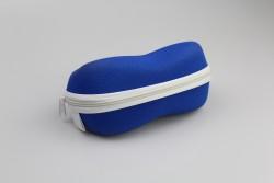 DEVA-4 Étui lunette polyester tissé bleu