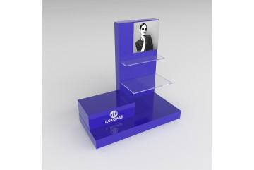 PR1 Présentoir en plexiglass bleu