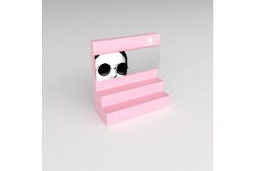 PR7 Présentoir de type podium rose pâle