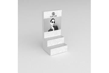 PR11 Présentoir de type podium effet marbre