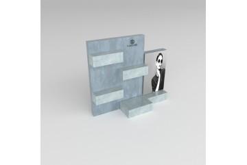 PR15 Présentoir en plexiglass effet métal