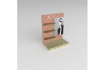 PR16 Présentoir en plexiglass effet bois/feuilles