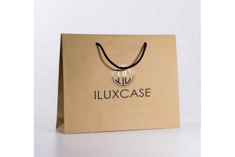 SL2601 Sac papier luxe logo or