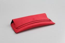 CER8701 Étui à lunettes suédine rouge
