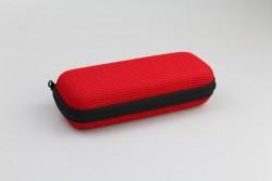DEVA-2 Étui à lunettes polyester tissé rouge