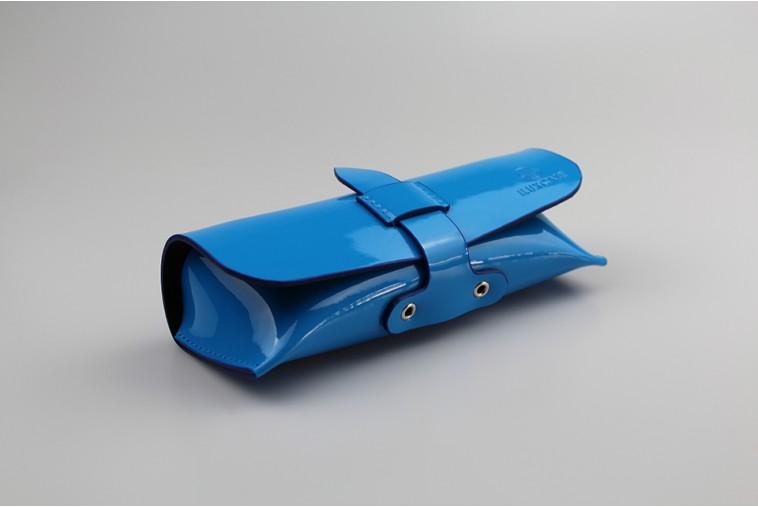 DO2322 Étui à lunettes bleu à lanière