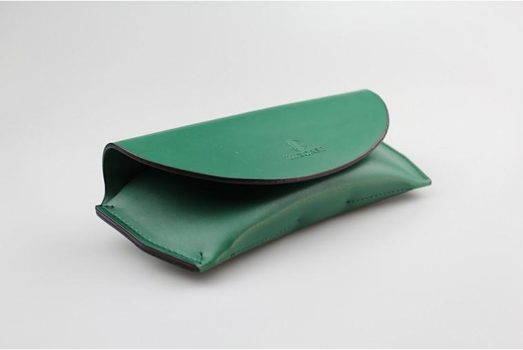 DOMR027 Étui à lunettes pochette vert
