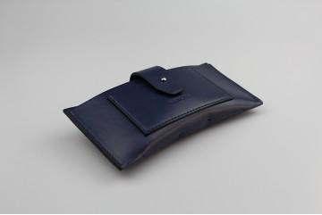 DOMR035 Étui à lunettes rectangulaire bleu marine