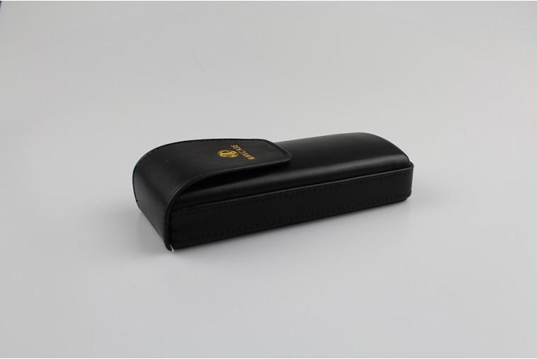 SH8121B Étui à lunettes noir à rabat