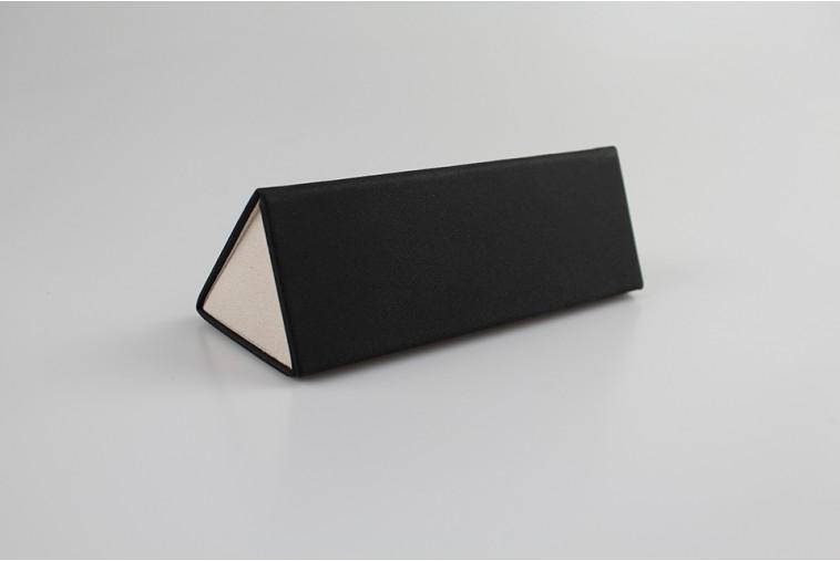 SH8065 Étui à lunettes triangulaire en PU noir