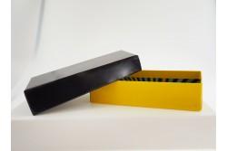 BOX-16 Boîte bicolore avec fermeture cloche asymétrique