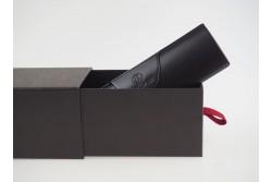 BOX-19 Boîte noire fermeture tiroir avec languette rouge