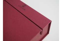 BOX-20 Boîte bordeaux fermeture retractable