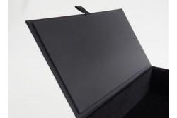 BOX-21 Coffret Luxe Noir avec languette Effet Soft Touch