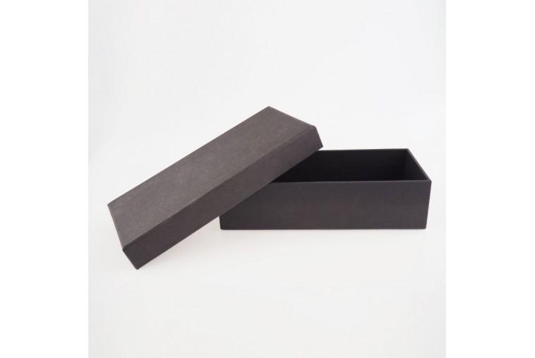 BOX-22 Boîte Noire en Carton Plat Fermeture Cloche