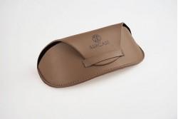 SI8116 Étui à lunettes semi-rigide vintage caramel
