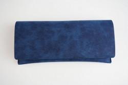 CER8702 Étui pour lunettes semi-rigide rectangulaire bleu barbeau