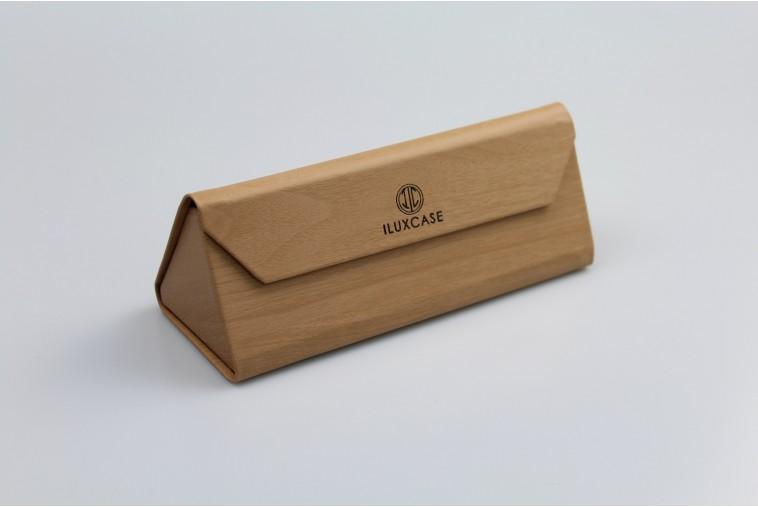 SH8077-2 Étui à lunettes imitation bois