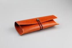 BLA-29 Étui à lunettes orange fermeture élastique