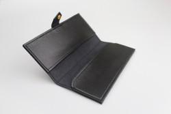 BHMC Étui à lunettes de type portefeuille noir