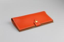 BLA36 Étui à lunettes de type portefeuille orange