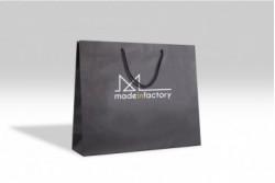 SL22 Sac papier luxe noir mat